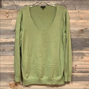 Talbot's Green Cashmere Sweater